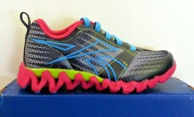 """New Girls//Kids Reebok Zigtech /""""Zigkick Alpha/"""" Running Shoes V53772"""