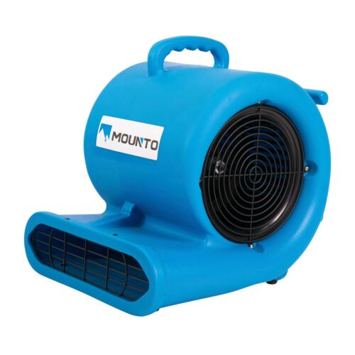 MOUNTO 1//3hp 2000cfm Commercial Air Mover Carpet dryer with GFCI Dual Outlet