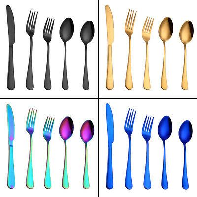 Gold Plated Dinnerware Cutlery Knife