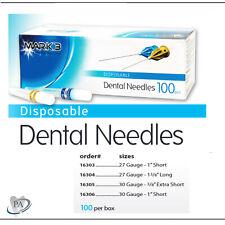 Disposable Dental Needles 100 Pcs 27ga Or 30ga Extra Short Short Long Mark3