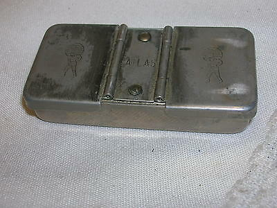 "Vintage Atlas Rubber Stamp Nickel Brass Avon Lake Ohio 2 1/2"" Paul & Evelyn's"
