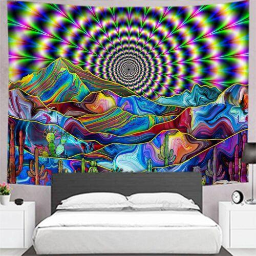 Espace psychédélique monde Tapestry Wall Hanging Trippy tapisseries Chambre Art Décoration