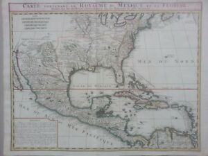 Map Of Texas To Florida.Chatelain 1719 Excellent Map Of The Region Map Of Texas Florida