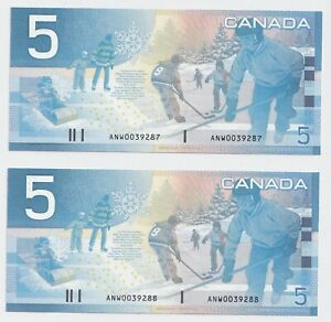 2-x-Sequential-2001-5-Bank-of-Canada-ANW-Replacement-CH-GEM-UNC