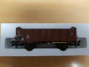 Trix-21530-3-H0-offener-Gueterwagen-Om-12-der-DB-aus-Startset-21530-Neu
