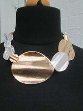 Lagenlook  short huge statement Necklace antique silver / gold colour