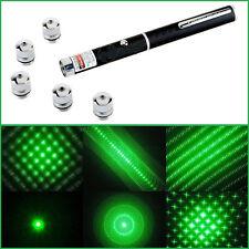 5pcs 6 in 1 5mw Green Laser Pointer Star CAP Projector Pen Lazer 532nm