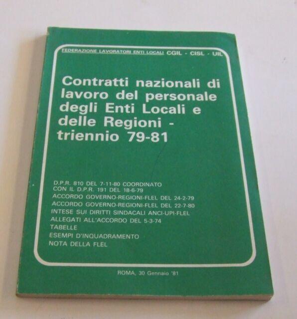 Contratti nazionali di lavoro del personale degli enti locali e delle regioni