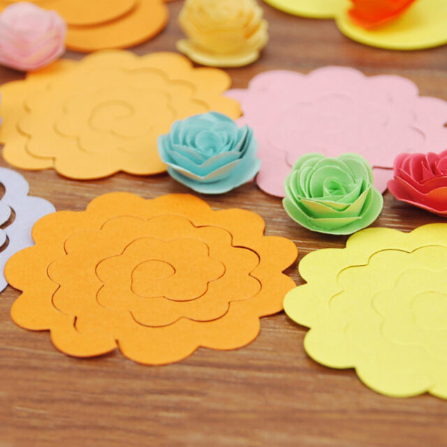 20pc Handmade Flower Type Origami Manual Rose Paper Mixed Colors