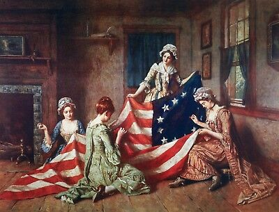 Original Thirteen Colonies Betsy Ross Flag Poster 24x36 inch rolled wall poster