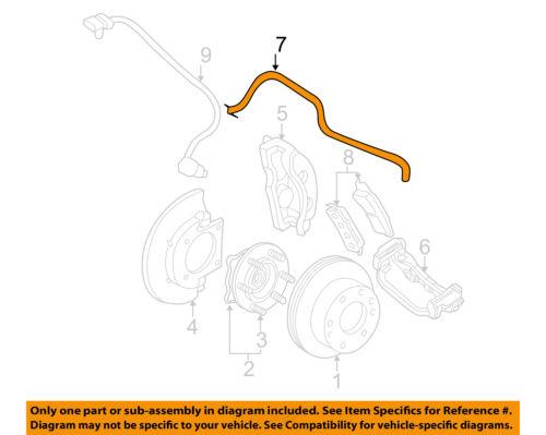 GM OEM Front Brake-Flex Hose 19366693