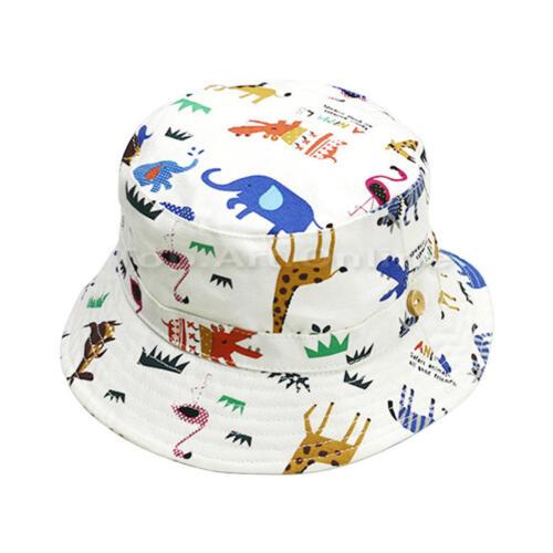 Boys Girls kids Baby Child Beach Travel Cotton Check Bucket Sun Hat Cap Bonnet