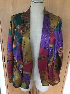 ETRO Wrap Silk Blouse, Jacket, Size 42