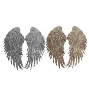 2-Pair-Angel-Sequins-Wings-Romantic-Patch-Applique-Craft-DIY-Clothes-Decor
