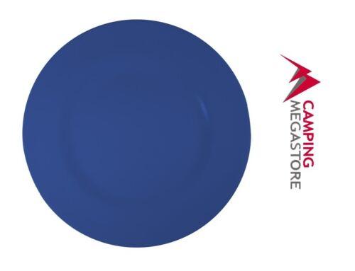 DARK BLUE PACK OF 4 SUPERWARE MELAMINE ROUND DINNER PLATE