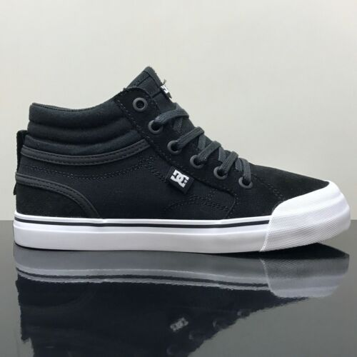 DC SHOES EVAN HI BLACK /& WHITE YOUTHS SKATE TRAINERS