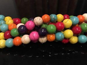 Dyed-Magnesite-Multi-Coloured-8mm-Round-Beads-15-5-034-Inch-Strand-UK-EBAYER