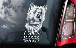 Cairn-Terrier-On-Board-Auto-Finestrino-Adesivo-Cane-Firmare-Regalo-Arte