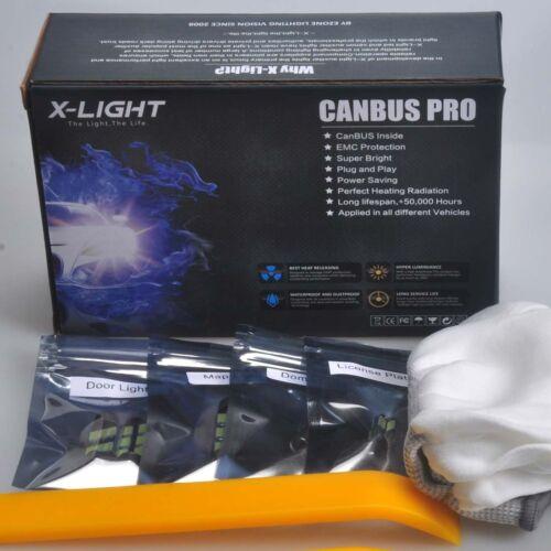 13pcs Xenon White for Mini Cooper S Cabrio LED Interior Light kit 2005-2008