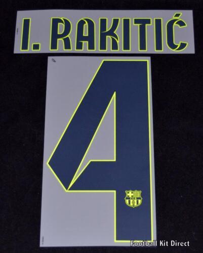 Barcelona l.Rakitic 4 2014-15 Football Shirt Name//Number Set Away Player Size