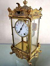 "1911-NEW HAVEN CLOCK""THOREAU""-FR Rococo Gilt- Regulator/ Keywind/ Chime -working"