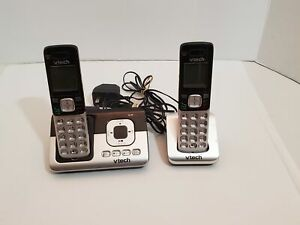 VTech-Dual-Handset-Cordless-Answering-System-Telephones-Charging-Cradle-2-Rooms