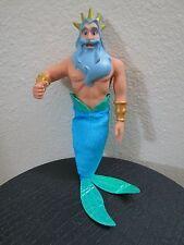 "Disney Store Classic King Triton 12"" Doll The Little Mermaid NEW: Shelf-Wear"