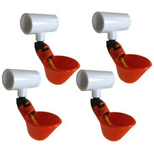 4 Automatic Waterer Drinker Cups Amp 12 Pvc Tee Fitting Chicken Water Poultry