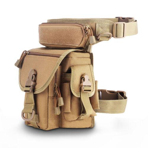 Bolsa de pierna táctica gota cintura militar cinturón Senderismo Bolsa de montar
