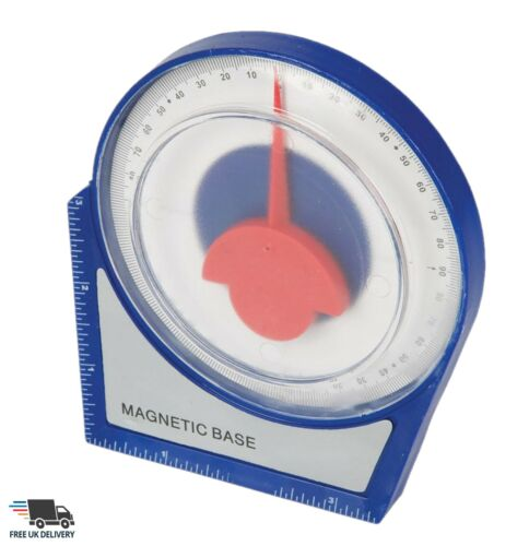 Magnetic Inclinometer Roofing Roofers Scaffolding Angle Finder Level Gauge 100mm