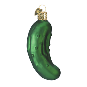 034-Pickle-034-28016-X-Old-World-Christmas-Glass-Ornament-w-OWC-Box