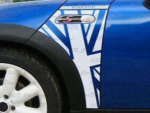Flaggen-Kotfluegel-Aufkleber-Fender-Decal-f-MINI-COOPER-R50-R53-Works-Union-Jack