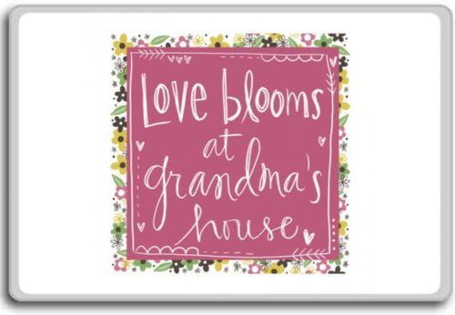 Love Blooms At Grandma's House Motivational Quotes Fridge Magnet