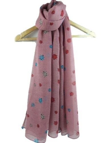 Ladies Lady Birds Ladybird Scarf superb quality available in 4 colours