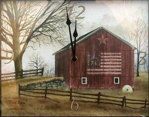 Image Is Loading Billy Jacobs FLAG BARN Rustic Country Primitive Tin