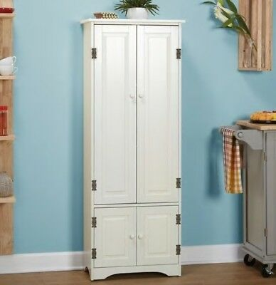 Merveilleux White Extra Tall Cabinet Kitchen Cupboard Bathroom Linen Cabinets Cabinetry  NEW | EBay