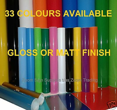 5m x 610mm & 305mm Rolls A4 Sticky Back Plastic Sign Vinyl Self Adhesive