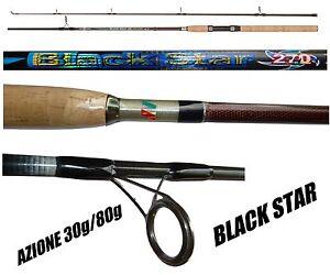 canna-spinning-black-star-2-70mt-azione-30-80g-carbonio-pesca-luccio-barracuda