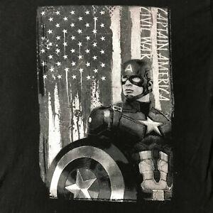 Captail America Civil War M-L Black Tee (pre-owned)