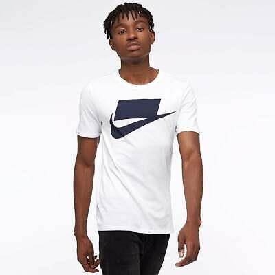 Nike Sportswear NSW Futura Blocked Men/'s T-Shirt 2XL White Black Casual Gym