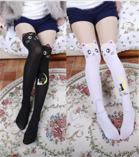Sailor Moon Cosplay 20th Anniversary Cat Luna Pantyhose Tight Stockings New