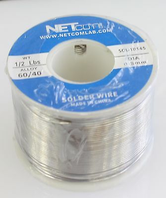 60//40 1.6mm 1//2lbs Tin Lead Rosin Core Solder Flux Soldering Welding Iron Wire R