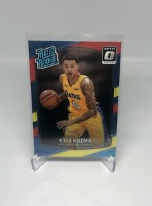 KYLE KUZMA 2017-18 Donruss Optic Red & Yellow Rated Rookie RC LAKERS