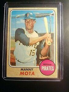 1968-Topps-325-Manny-Mota-Pirates-NrMt-NM-High-Grade