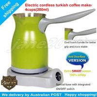 Green Electric Greek Turkish Coffee Maker+anti Overflow Function Stainless Steel