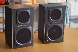 Image Is Loading National SB 525 Speaker Vintage Bookshelf Speakers Made