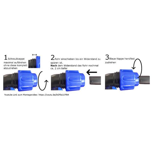 Jeu de Connexion pour 3 Ibc Réservoirs D/'Eau Idéal Super Stable #1013 P