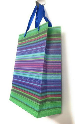 Lagiwa® Lot de 4 Sacs Papier Cadeaux RAYURES ASSORTIS PM 24X18X8cm