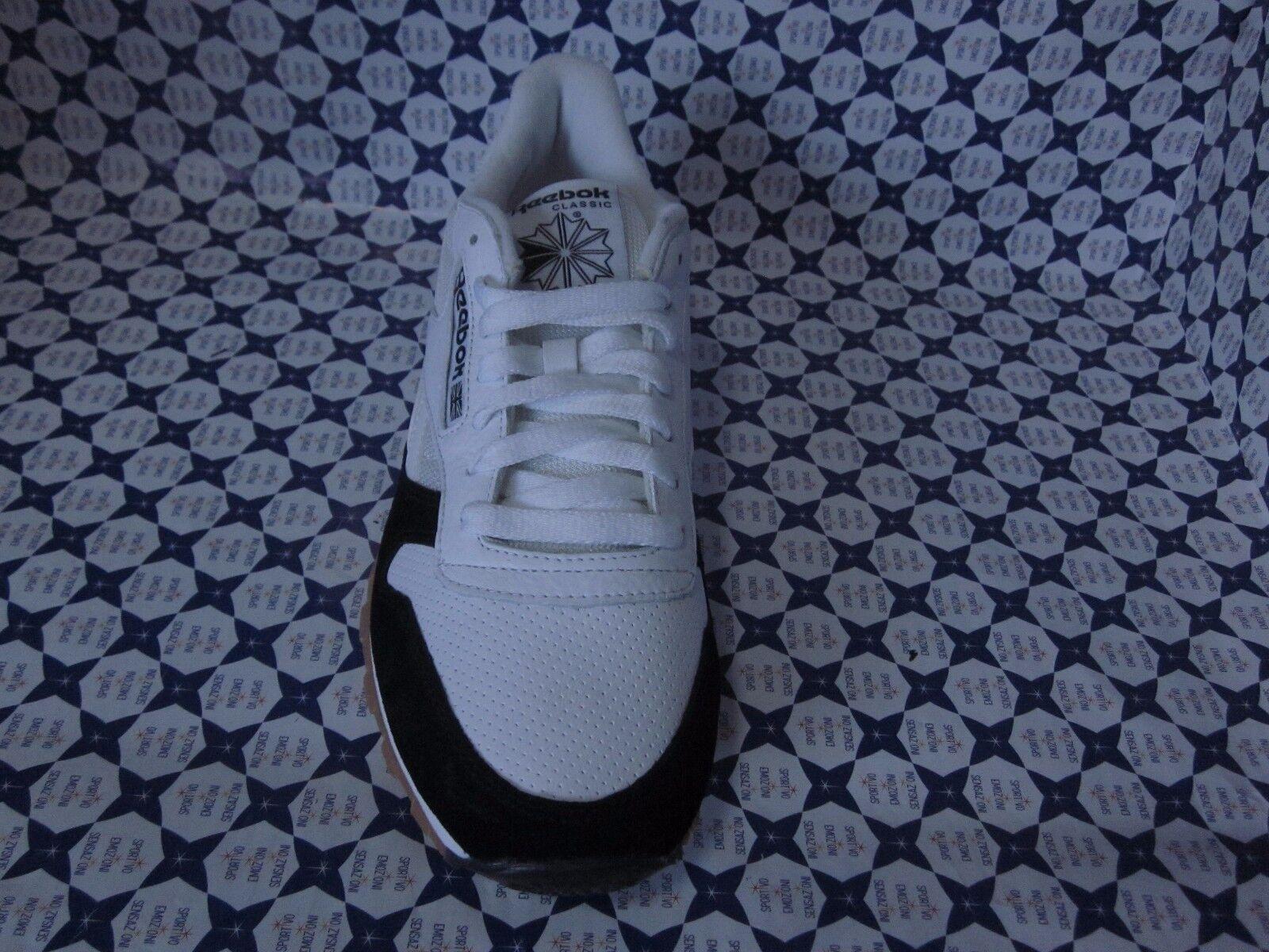 Scarpe Reebok CL Leather SPP Ginnastica Casual Retrò  -- Bianco Nero -- AR1894