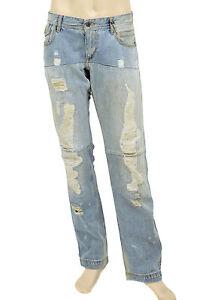 295-Dolce-amp-Gabbana-bleu-effet-vieilli-Super-Homme-Denim-d-amp-g-Jeans-Nouvelle-Collection